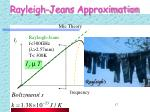 rayleigh jeans approximation