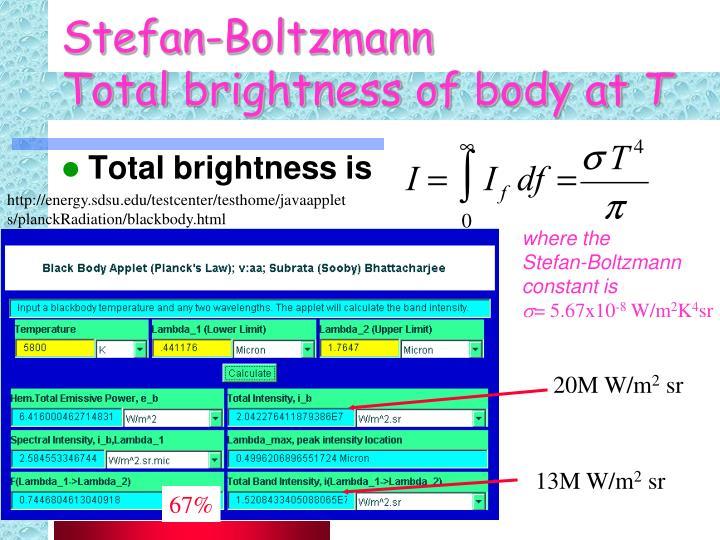 Stefan-Boltzmann