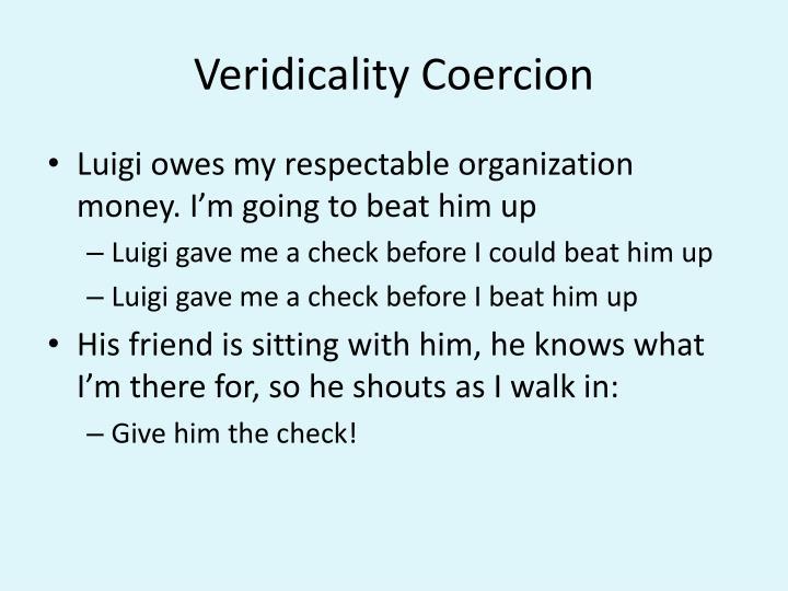 Veridicality Coercion