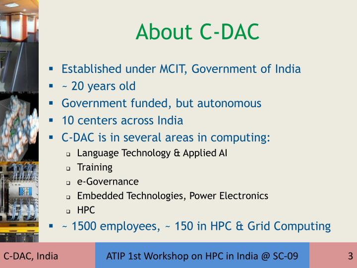 About C-DAC
