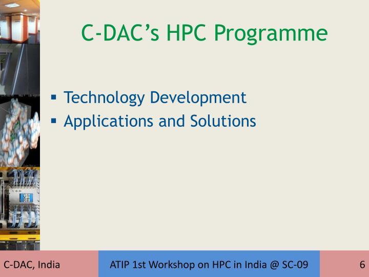 C-DAC's HPC Programme