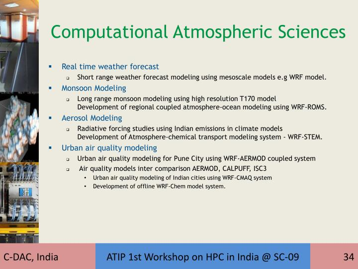 Computational Atmospheric Sciences