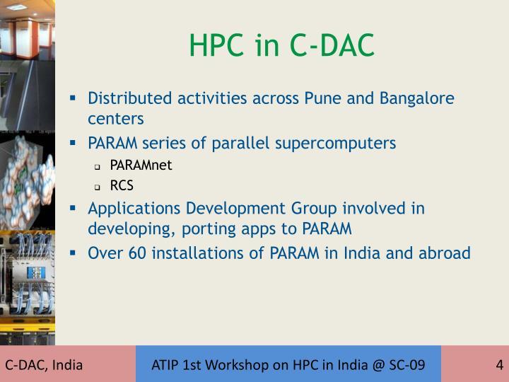HPC in C-DAC