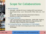 scope for collaborations