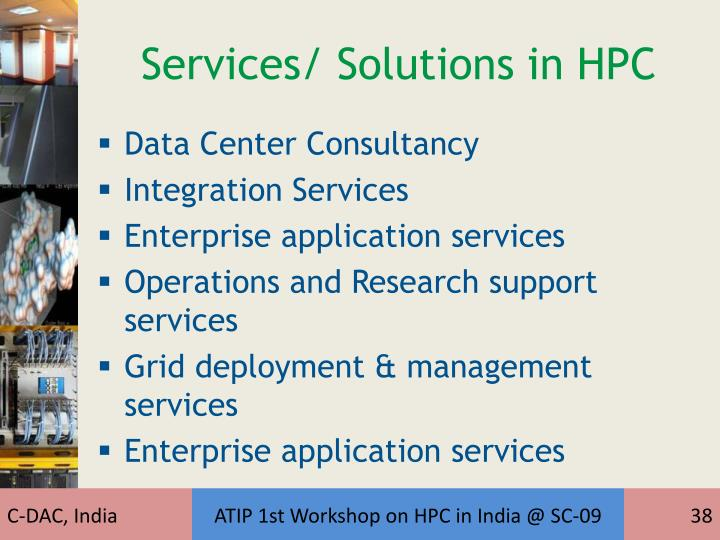 Services/ Solutions in HPC