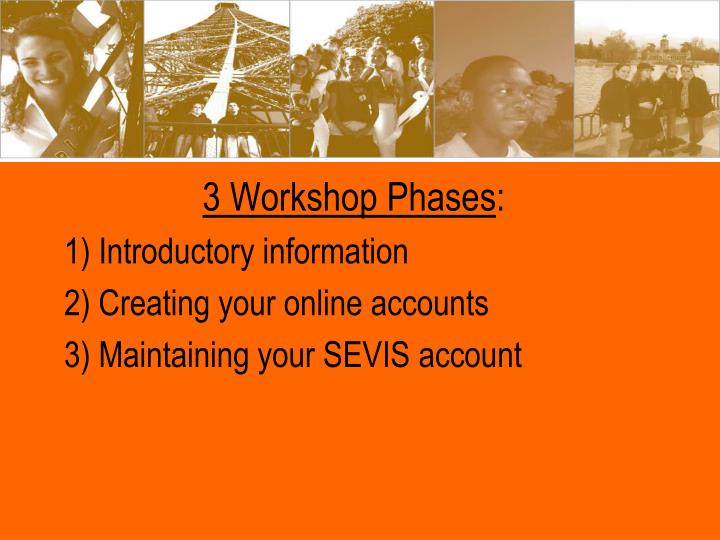 3 Workshop Phases