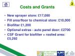costs and grants1