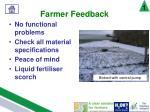 farmer feedback