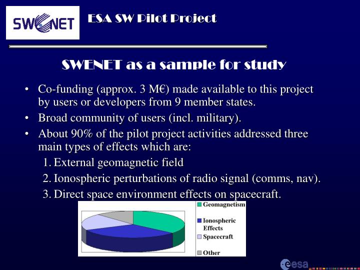 SWENET as a sample for study
