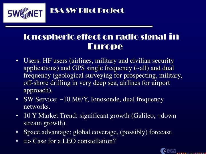 Ionospheric effect on radio signal