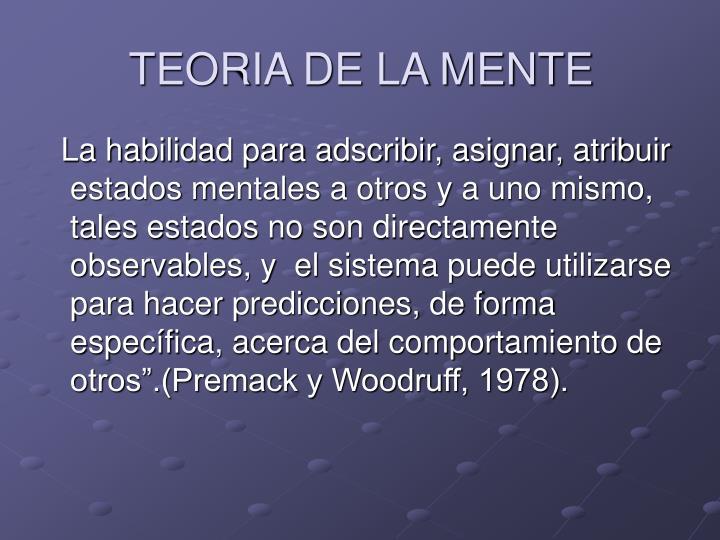 TEORIA DE LA MENTE