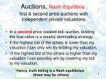 auctions nash equilibria