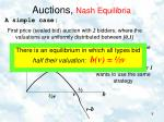 auctions nash equilibria4