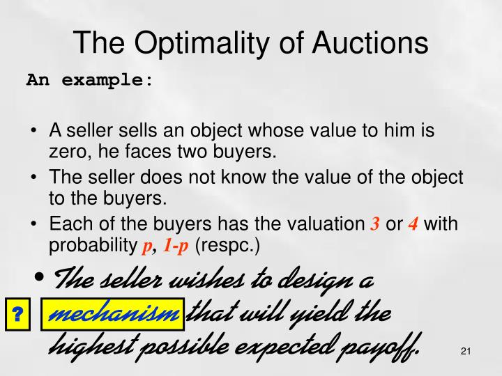 The Optimality of Auctions