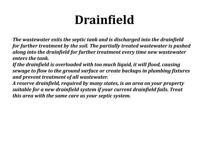 Drainfield