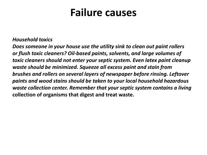Failure causes