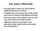 use water efficiently