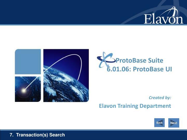 ProtoBase Suite 6.01.06: ProtoBase UI