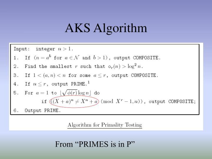 AKS Algorithm