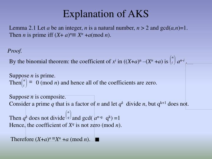 Explanation of AKS