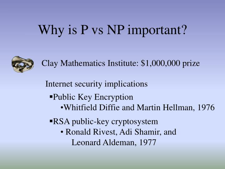 Why is P vs NP important?