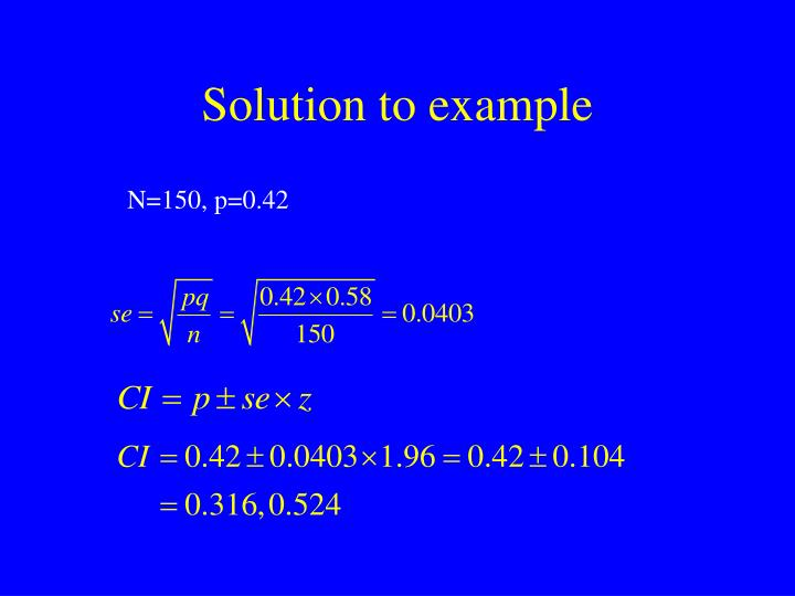Solution to example
