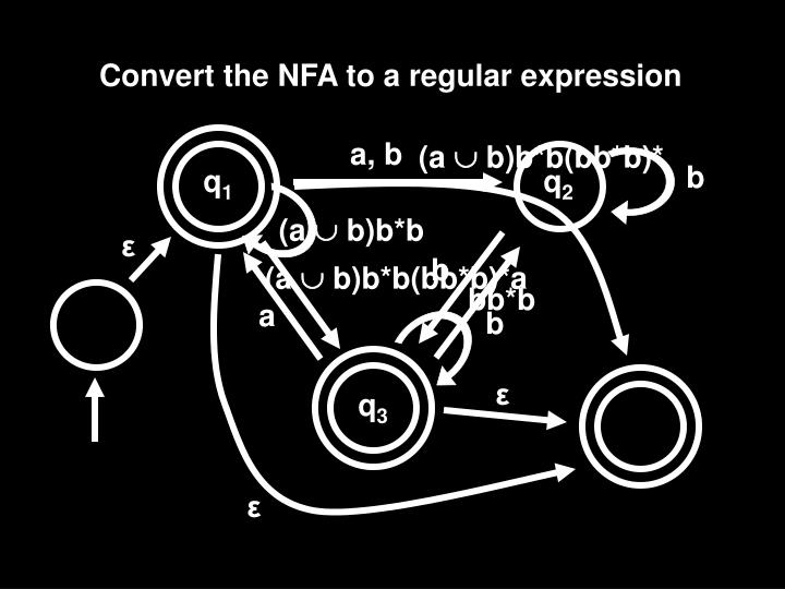 Convert the NFA to a regular expression