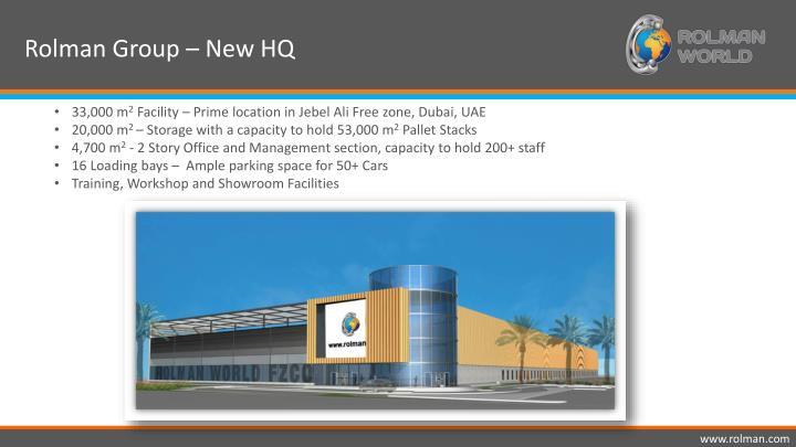 Rolman Group – New HQ
