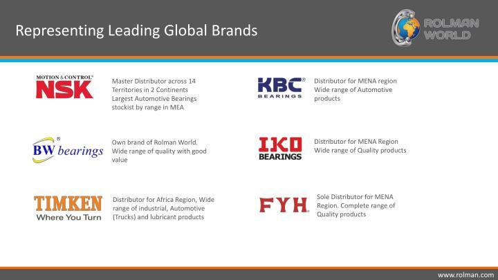 Representing Leading Global Brands