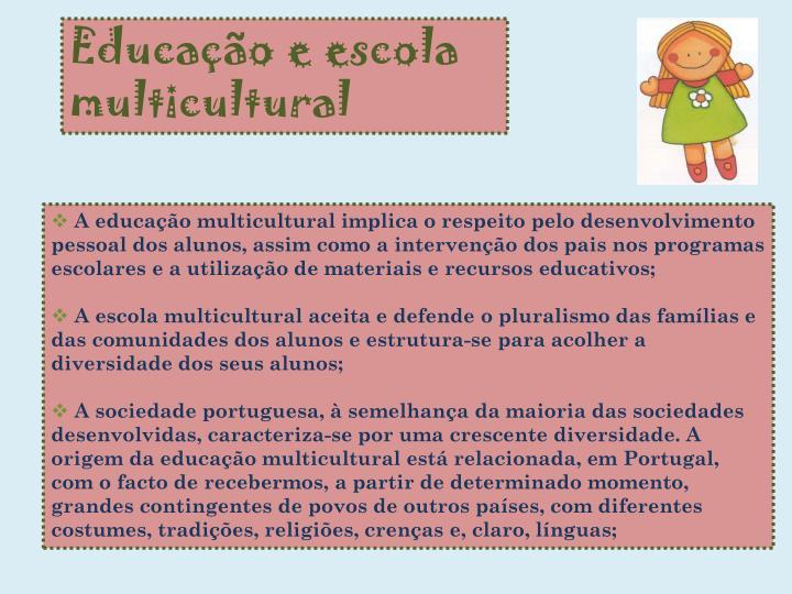 Educação e escola multicultural