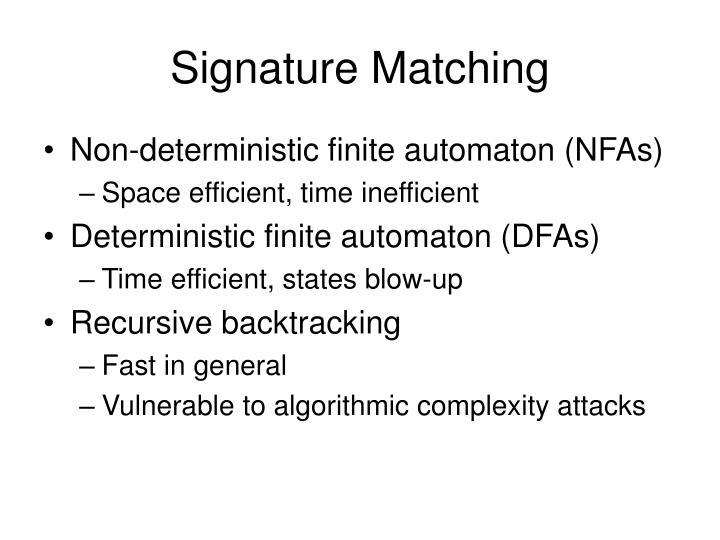 Signature Matching