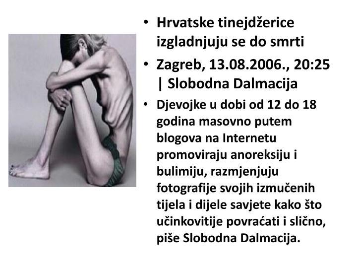 Hrvatske tinejdžerice izgladnjuju se do smrti