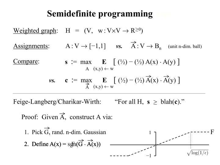 Semidefinite programming