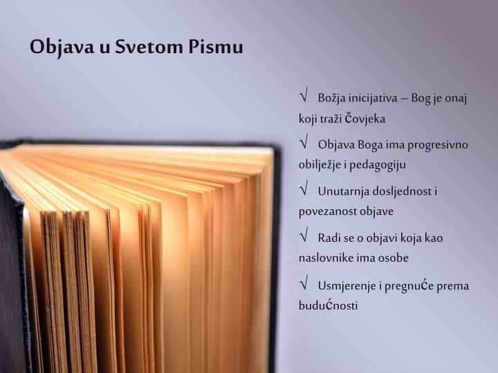 Objava u Svetom Pismu