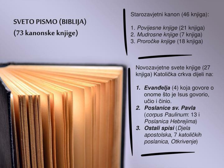 SVETO PISMO (BIBLIJA)