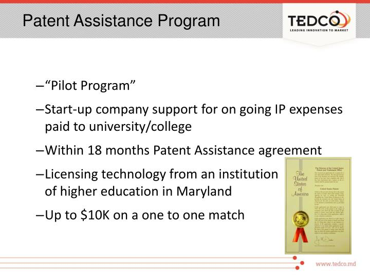 Patent Assistance Program