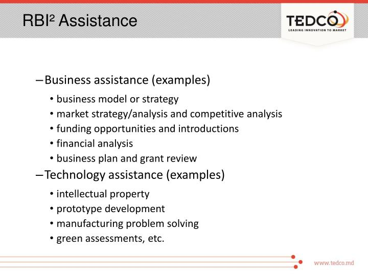 RBI² Assistance