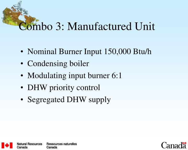 Combo 3: Manufactured Unit