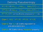 defining pseudoentropy1