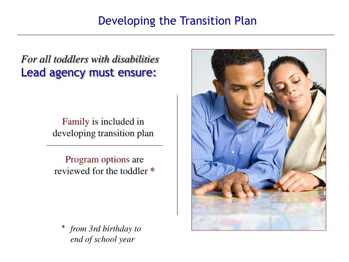Developing the Transition Plan