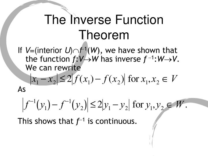 The Inverse Function Theorem