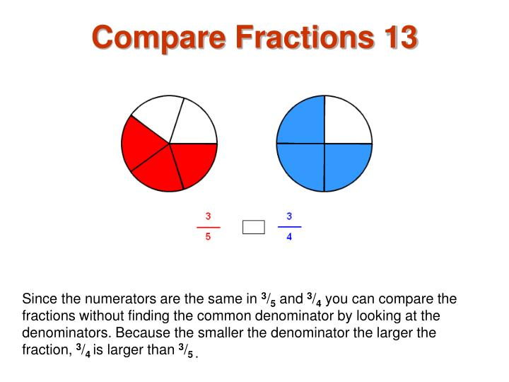 Compare Fractions 13