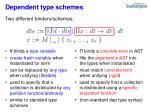 dependent type schemes