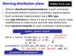 deriving distribution plans