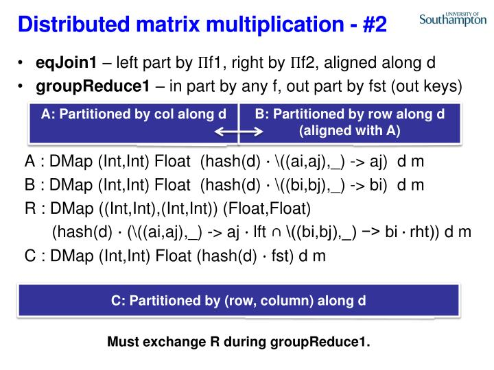 Distributed matrix multiplication -
