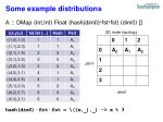 some example distributions