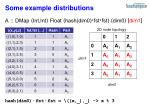 some example distributions1
