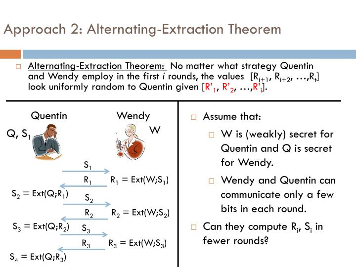 Approach 2: Alternating-Extraction Theorem