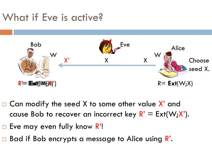What if Eve is active?