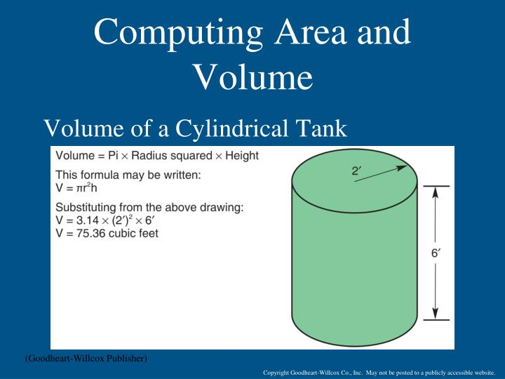 Computing Area and Volume